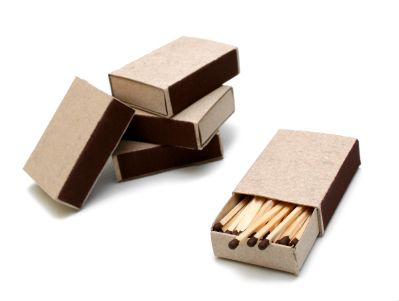 Without Inspiration: A box of matches will never be lit!
