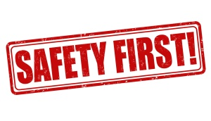 Safety first stamp